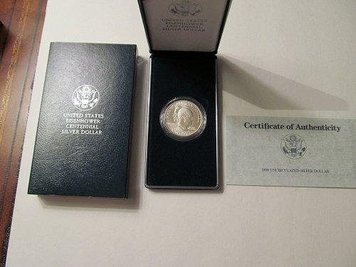 1990 Eisenhower Centennial silver dollar