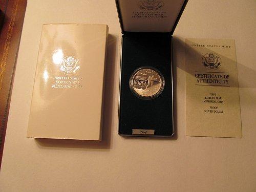 1991 Korean War Memorial silver dollar