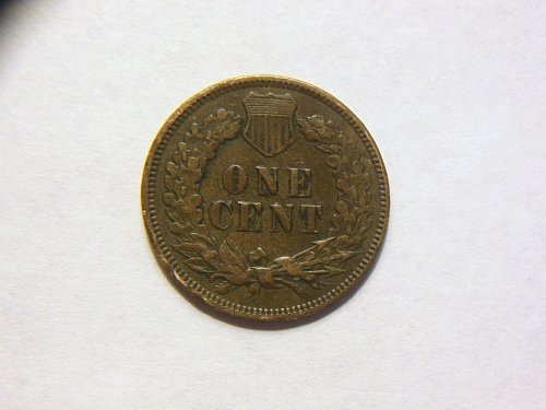 1875 Indian Head Cent Weak Strike Error Coin