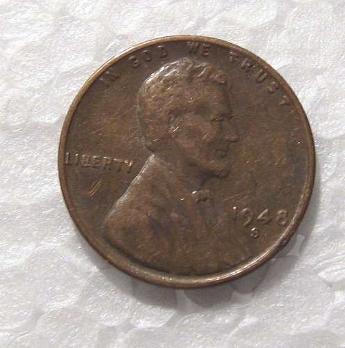 1948 S LINCOLN WHEAT CENT RPM REPUNCHED MINT MARK