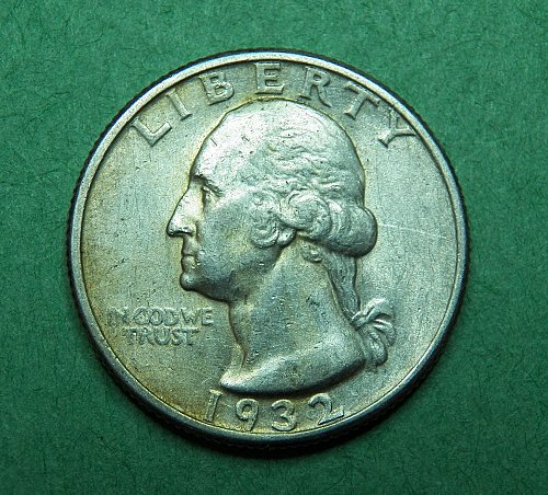1932 P Washington Quarter Almost Uncirculated Coin   d37