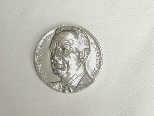 Lyndon B. Johnson medallion (50 mm), polished