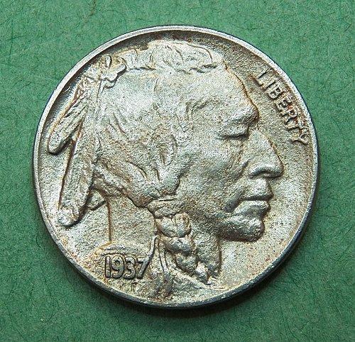 1937 P Buffalo Nickel Almost Uncirculated Coin   e30