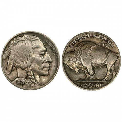 1928 D Buffalo Nickel - XF
