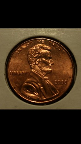 2008 penny G is completely missing (rare)