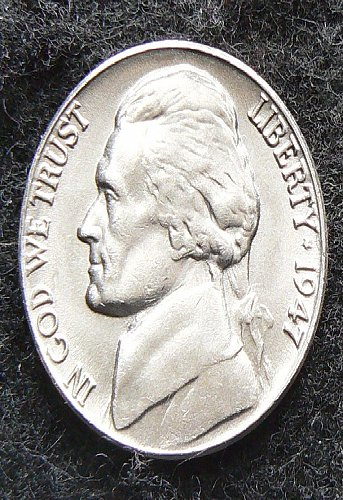 1947 P Jefferson Nickel FS