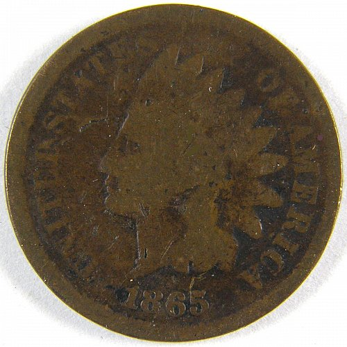 1865 P Indian Head Cent #1