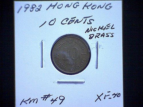 1982 HONG KONG TEN CENTS