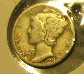Sharp 1931 Mercury Silver dime B-14   FINAL LIST  !!
