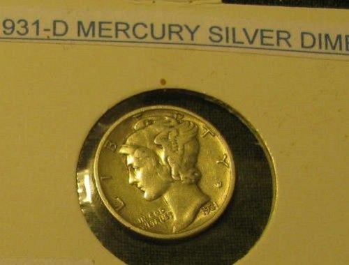1931D   Mercury DimeTHE KEY!!#1415+ 2 FREE 1930's DIMES LAST CHANCE!!!!