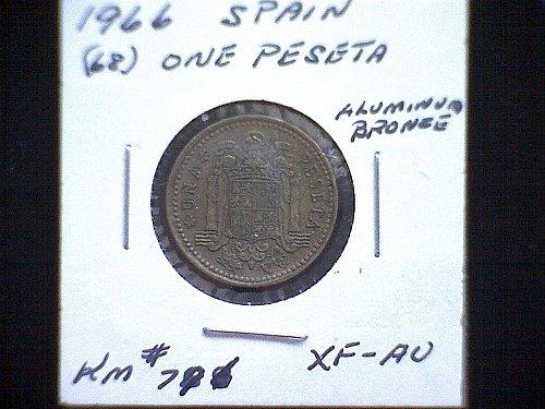 1966 (68) SPAIN ONE PESETA
