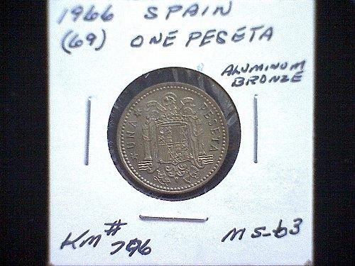 1966 (69) SPAIN ONE PESETA