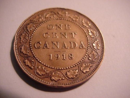 1918 canada large penny