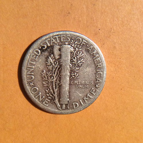 1941-p mercury dime  circulated