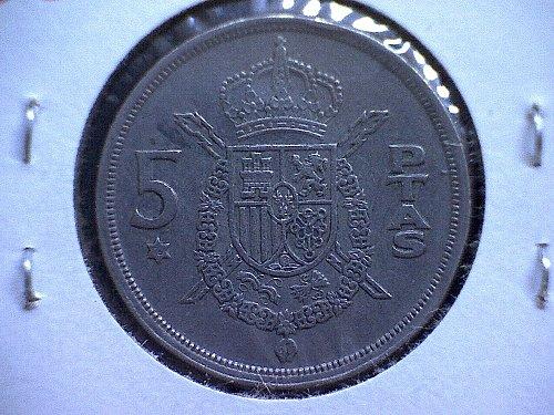 1975 (76) SPAIN FIVE PESETAS
