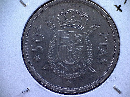 1975 (80) SPAIN FIFTY PESETAS