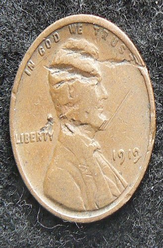 1919 P Lincoln Wheat Cent (G-4) damaged