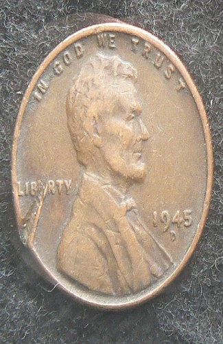 1945 D Lincoln Wheat Cent (F-12) damaged