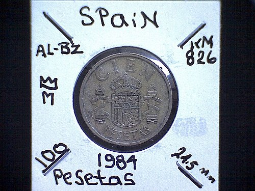 1984 SPAIN ONE HUNDRED PESETAS