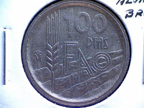 1995m SPAIN ONE HUNDRED PESETAS