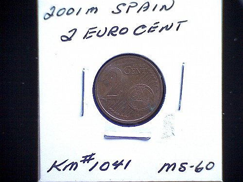 2001m  SPAIN TWO EURO CENT