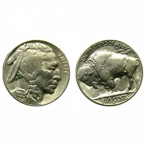 1935 S Buffalo Nickel - AU