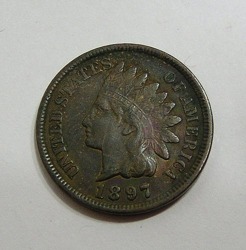 1897 Indian Head Cent - XF Full Liberty