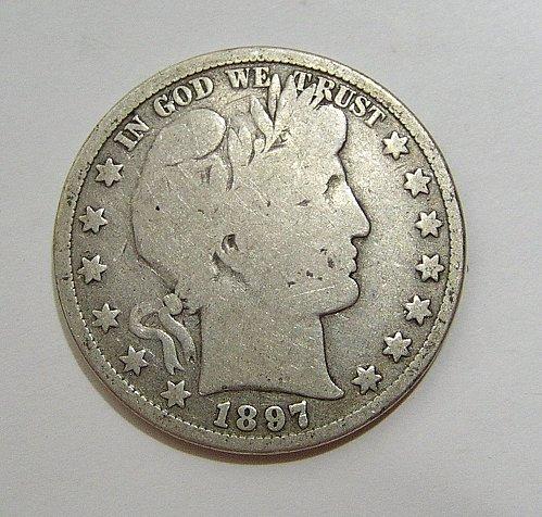 1897 Barber Half Dollar - VG