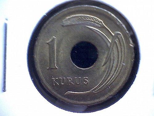 1950 TURKEY ONE KURUS