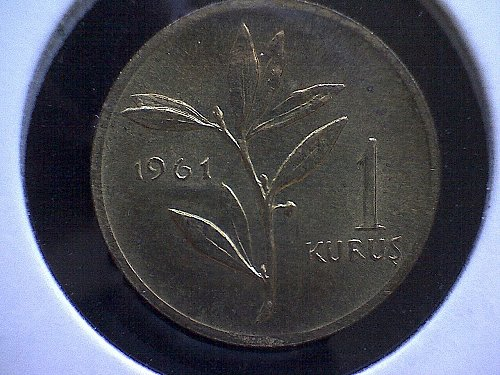 1961 TURKEY ONE KURUS