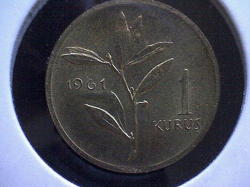 1961 TURKEY ONE KURUS