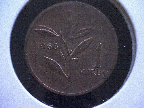 1963 TURKEY ONE KURUS