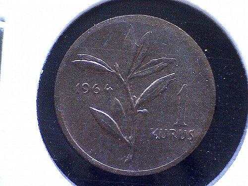 1964 TURKEY ONE KURUS