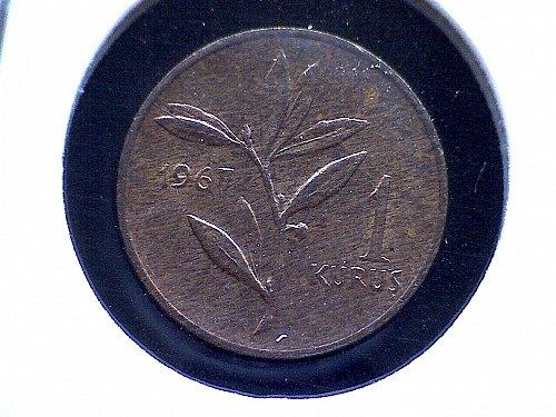 1967 TURKEY ONE KURUS