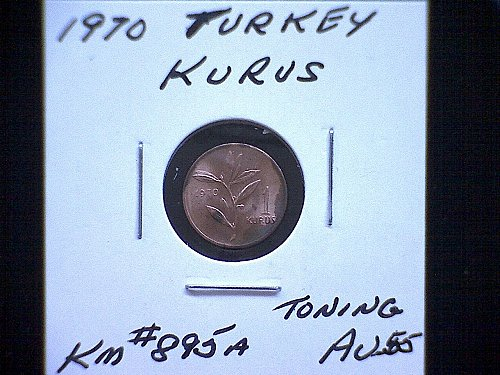1970 TURKEY ONE KURUS