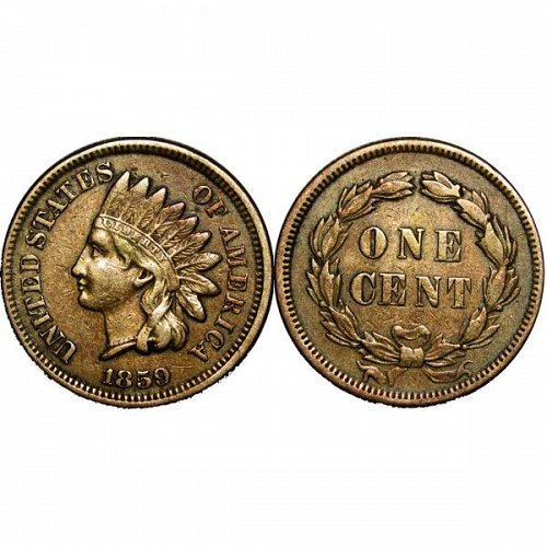 1859 Indian Head Cent - XF