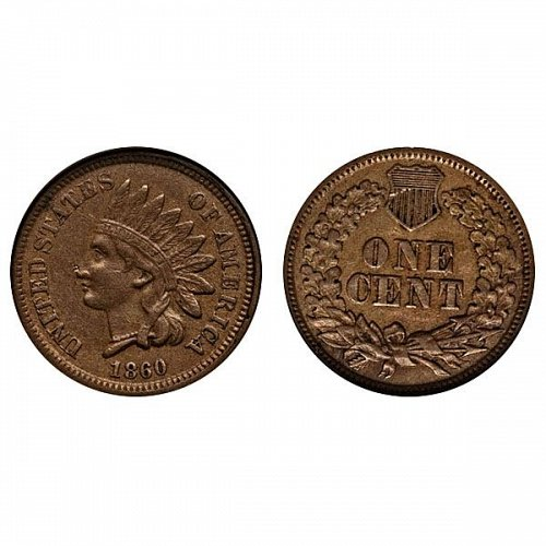 1860 Indian Head Cent - AU