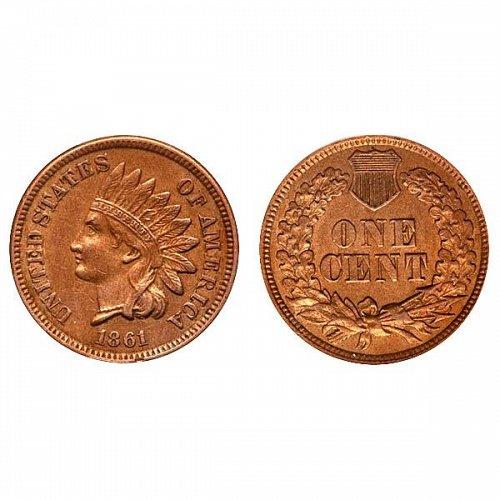 1861 Indian Head Cent - AU