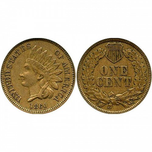 1860 Indian Head Cent - XF / EF / Extra Fine