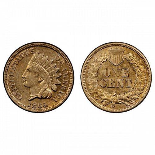 1864 Indian Head Cent - AU