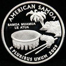 2009 S   AMERICAN SAMOA   PROOF QUARTER