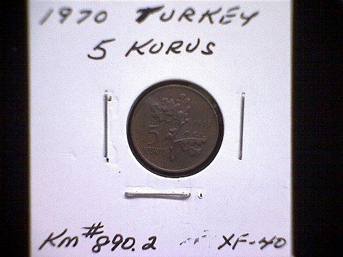 1970 TURKEY FIVE KURUS