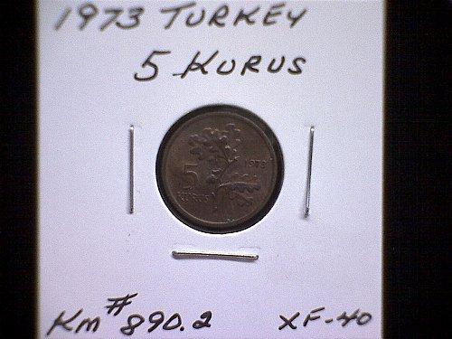 1973 TURKEY FIVE KURUS