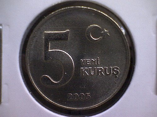 2005 TURKEY FIVE NEW KURUS