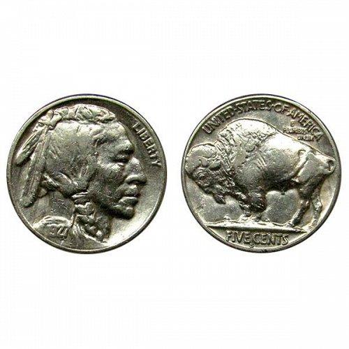 1927 S Buffalo Nickel - AU