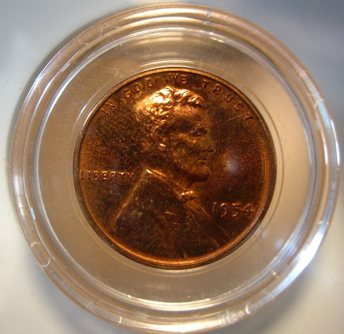 1954 Proof Deep Cameo Lincoln Wheat Cent Small Cents: Nice Penny