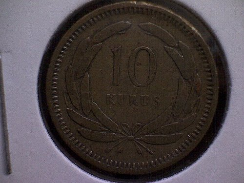 1949 TURKEY TEN KURUS