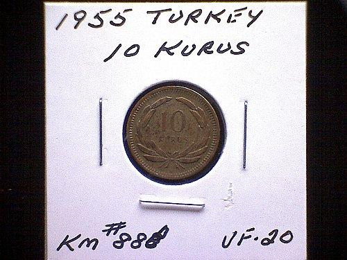 1955 TURKEY TEN KURUS