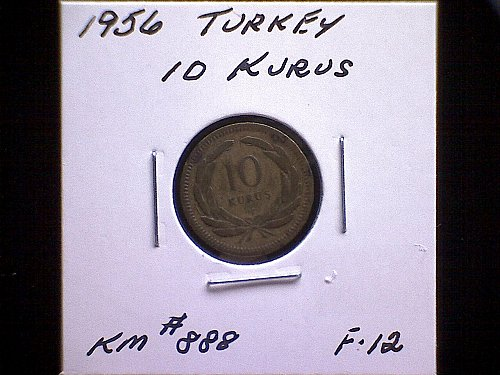 1956 TURKEY TEN KURUS