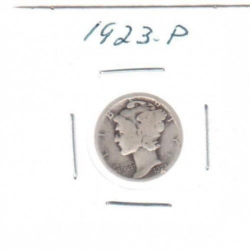 1923 P Mercury Dime - Circulated Coin